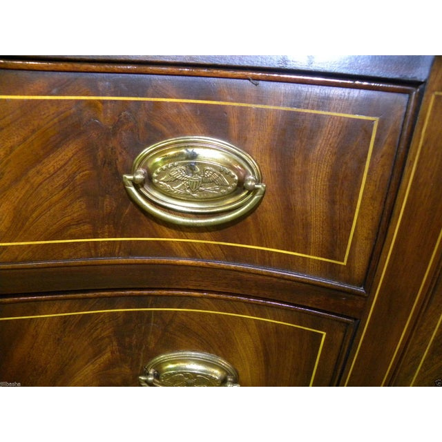 Brown Henkel Harris Mahogany Server Buffet For Sale - Image 8 of 10