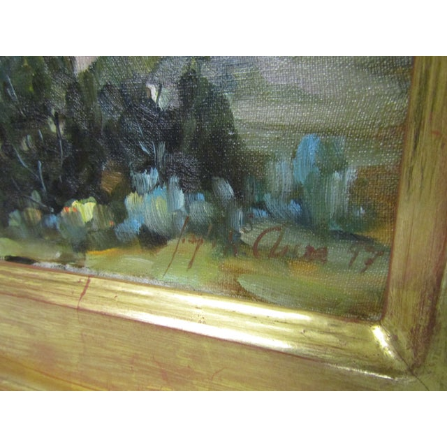 Impressionism Original Signed Southwest Landscape Oil on Canvas Painting For Sale - Image 3 of 8