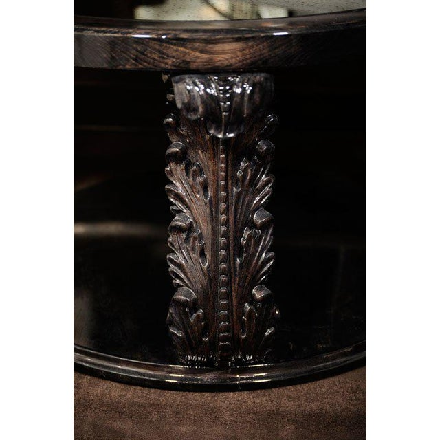 1940s Exceptional 1940s Occasional Table with Carved Plumes by Grosfeld House For Sale - Image 5 of 7