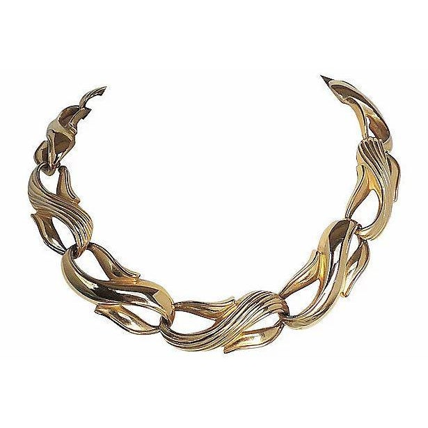 Modern Givenchy Textured & Smooth Link Necklace For Sale - Image 3 of 8