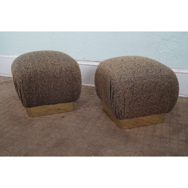 Karl Springer-Style Soufflé Ottomans - A Pair - Image 3 of 10
