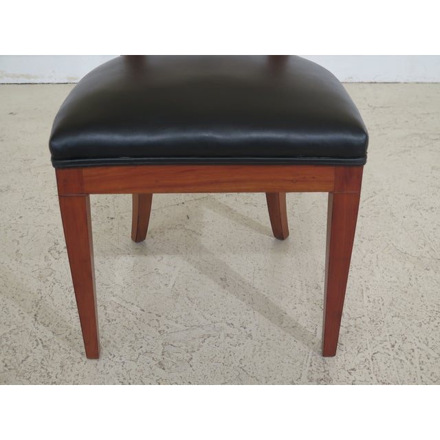 Biedermeier style cherry side chair. Approximately 75 years old. Vintage chair that was refinished & seat recovered....