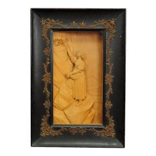 Wooden Carved Alpine Diorama by S Steiner, Meran Ca 1900 For Sale