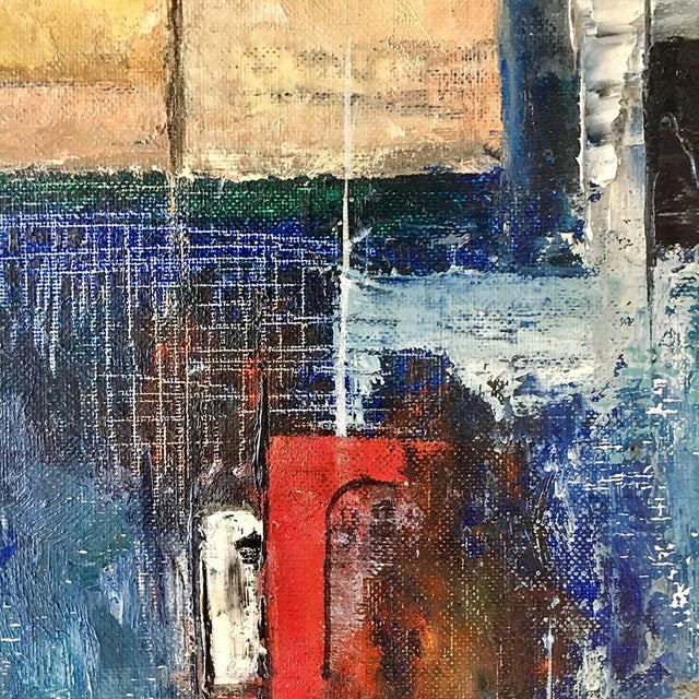 Abstract An Abstract Oil on Board Painting by Peggy Mohler For Sale - Image 3 of 6