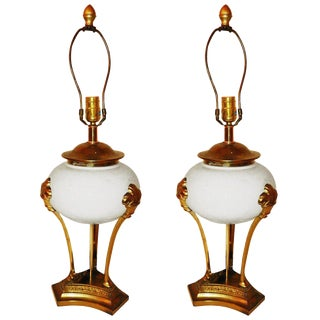 Vintage Chapman Neoclassical Table Lamps - a Pair