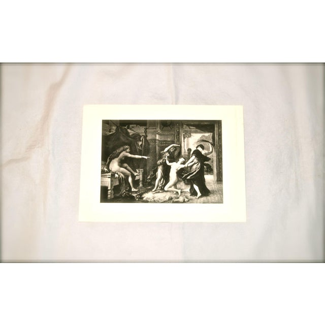 "Neoclassical Adolphe Weber ""Psyche Whipped by Order of Venus"" 1884 Print For Sale - Image 3 of 8"