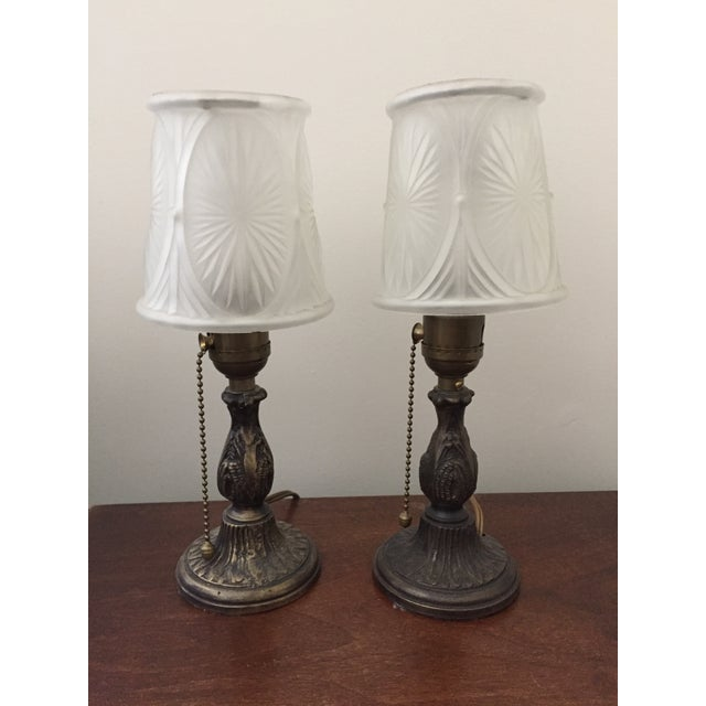 Restored Petite Antique Table Lamps - a Pair - Image 3 of 5
