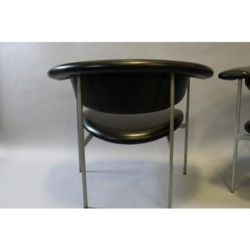 Contemporary 1970s Vintage Rudolf Wolf Fauteuil Black Leather Chair For Sale - Image 3 of 6