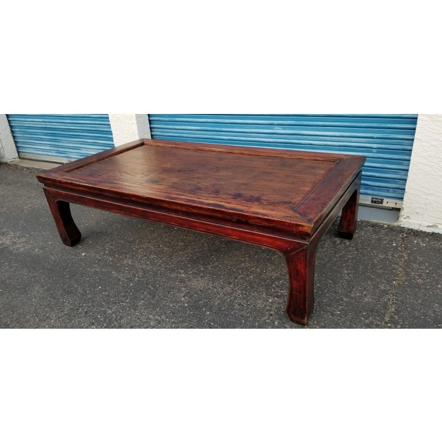 Asian 20th Century Asian Antique Monk Style Coffee Table For Sale - Image 3 of 13