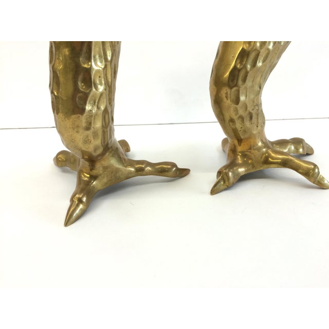 1970s Brass Eagle Claw Candlesticks- A Pair - Image 5 of 6