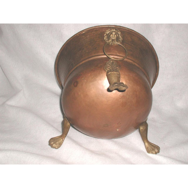 Late 20th Century Vintage Copper Planter For Sale - Image 6 of 7