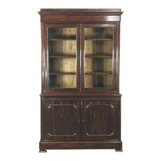 Bookcase, 19th Century French Louis Philippe Period in Mahogany For Sale