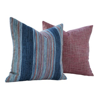 Ink Gypsy Road & Poppy Artisan Pillow Covers - A Pair