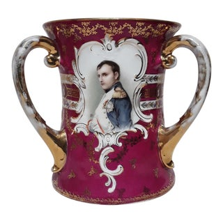 Loving Cup Three Handled Porcelain Cup For Sale
