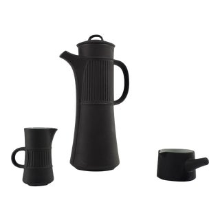 1950s Mid-Century Modern Dansk Flamestone Coffee Set - 3 Pieces For Sale