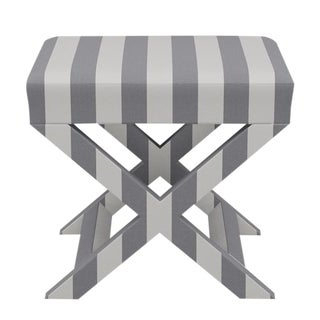 X Bench in Charcoal Cabana Stripe For Sale