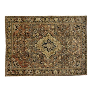 Vintage Persian Mahal Rug - 07'09 X 10'07 For Sale