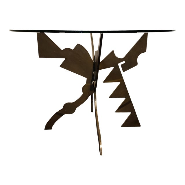 Brutalist Memphis Era Dining Table by Pucci De Rossi For Sale