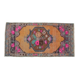 """Front of Kitchen Sink Rug Hand Made Bath Mat Faded Mini Rugs 1'11"""" X 3'10"""" For Sale"""