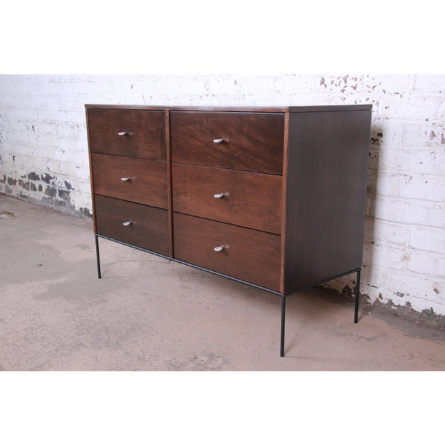 Contemporary Paul McCobb Planner Group Iron Base Six-Drawer Dresser or Credenza For Sale - Image 3 of 13