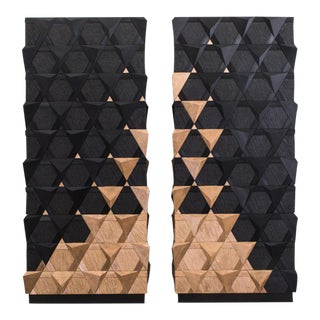 Pair of 2016 French Jean-Luc Le Mounier Origami Armoires For Sale