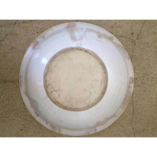 Garnier Opalescent Glazed Handmade Porcelain Serving Bowl For Sale - Image 4 of 9