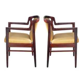 A Good Pair of Danish Modern 1960's Rosewood Arm Chairs in the Manner of Kai Kristiansen