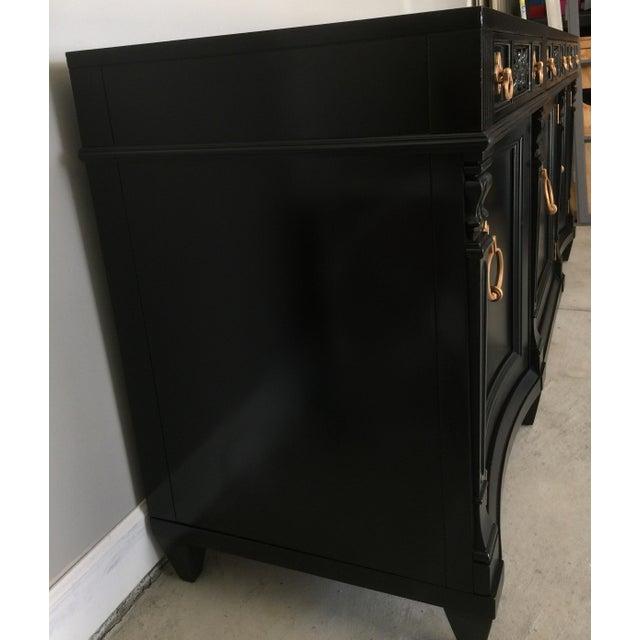 Black Vintage Weiman Painted Credenza For Sale - Image 8 of 10