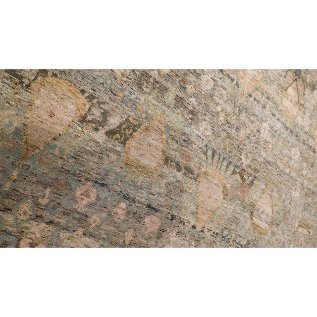 """Transitional Hand-Knotted Luxury Rug - 8'11"""" x 12' - Image 2 of 6"""