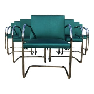 Ten Mies Van Der Rohe Tubular Brno Chairs by Knoll For Sale