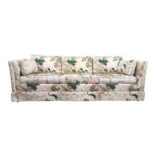 Henredon Inspired Hollywood Regency Chinoiserie Asian Bird Tuxedo Sofa