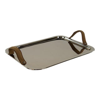 Modern Polished Silver Serving Tray