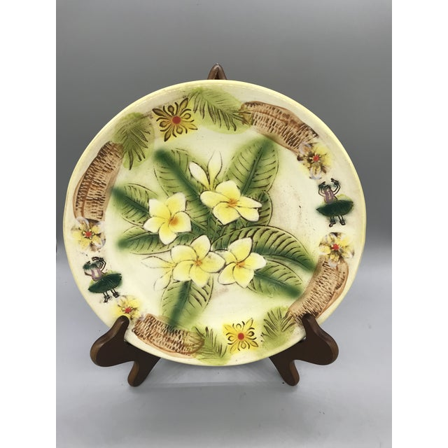 Green Vintage Kani of Hawaii Pottery Pie Plate For Sale - Image 8 of 11