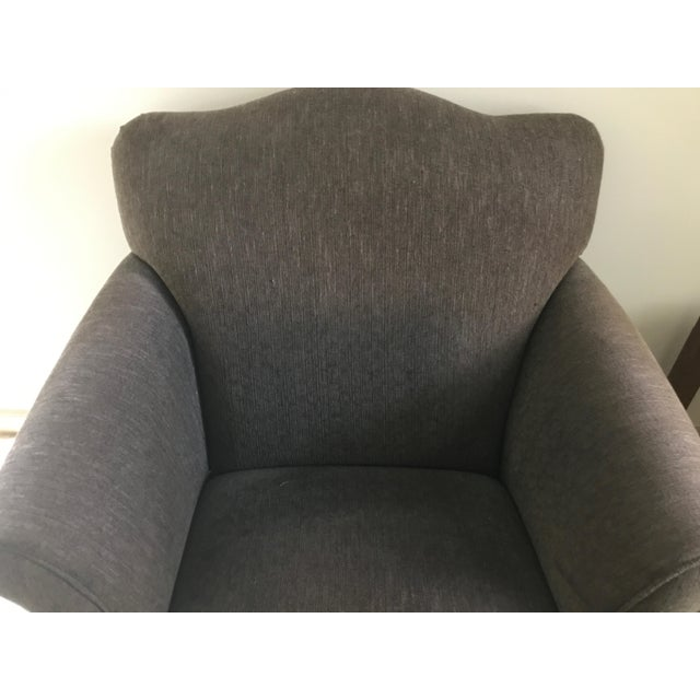 Room & Board Club Chair & Ottoman For Sale - Image 5 of 11