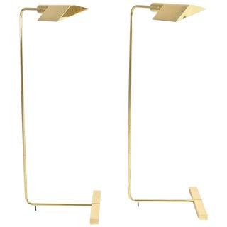 Pair of Cedric Hartman 1UWV Low Profile Luminaire Floor Lamps