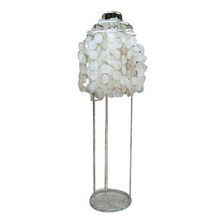 1960s Verner Panton Capiz Shell Floor Lamp For Sale