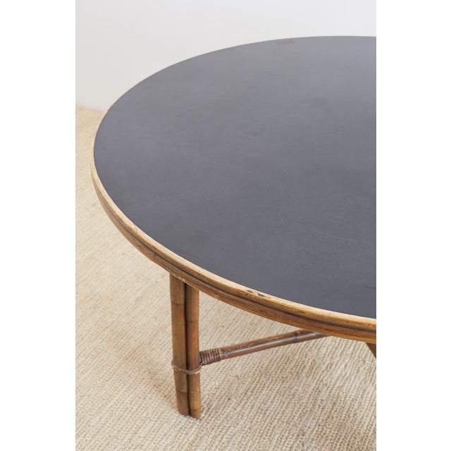 Ficks Reed Midcentury Rattan Dining Table For Sale - Image 11 of 13
