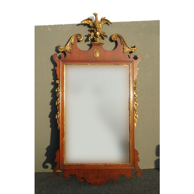 Antiques Antique Vintage Federal Style Big Wall Mirror Decorative Arts