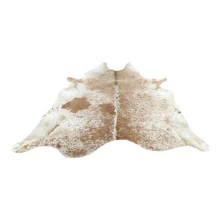 "Cowhide Rug Longhorn Brown and Off White - 7'1"" x 7'6"""