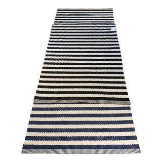 "Papellina ""Duo"" Black and White Striped Floor Mat - 2′9″ × 5′3″ For Sale"