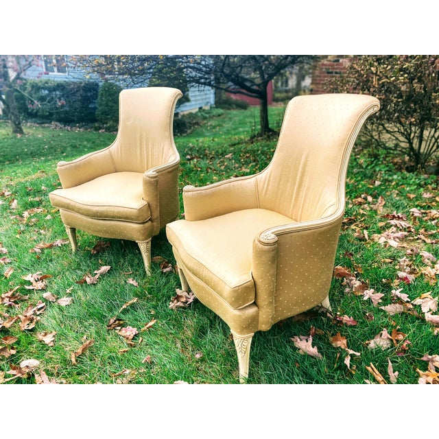 Victorian Scroll Back Arm Chairs - a Pair For Sale - Image 4 of 7