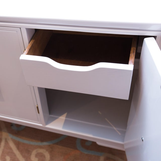 Vintage 3-Door White Lacquer Console - Image 3 of 6
