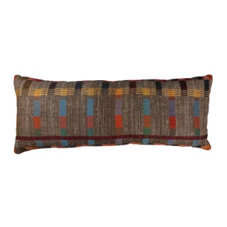 Indian Handwoven Pillow in Japanese Stripe Design For Sale