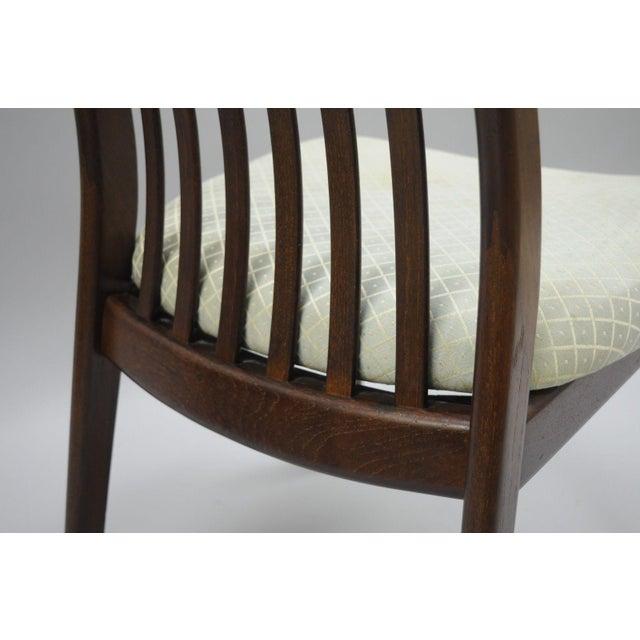 Teak Vintage Dyrlund Mid Century Danish Modern Teak Dark Wood Dining Side Chair For Sale - Image 7 of 11
