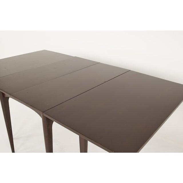 Wood Kroehler Refinished Mid Century Drop Leaf Dining Table For Sale - Image 7 of 12