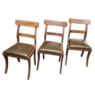 Set of 3 English Chairs For Sale