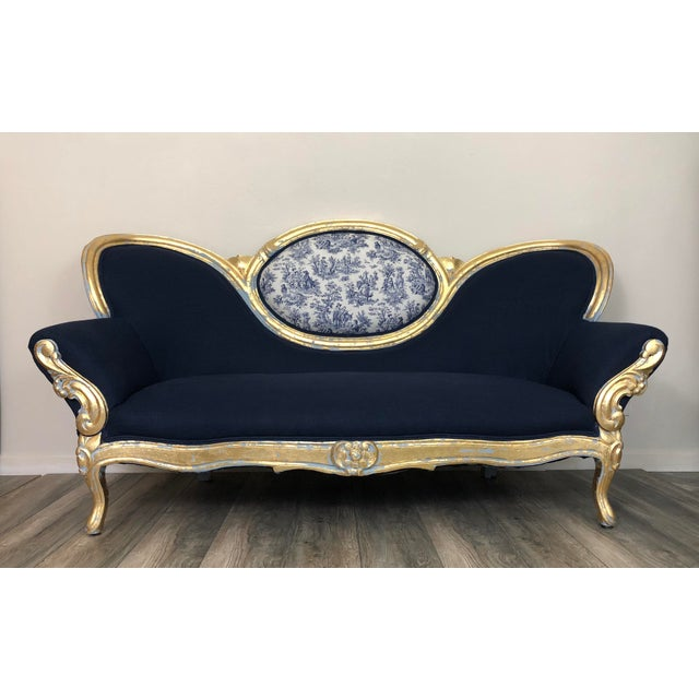 Vintage French Provincial Victorian Sofa For Sale - Image 9 of 10