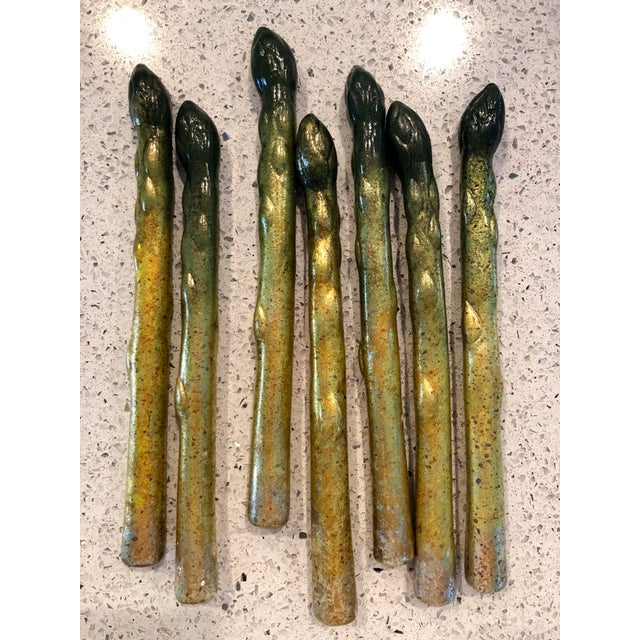 Ceramic Hand-Painted Ceramic Asparagus- Set of 7 For Sale - Image 7 of 7