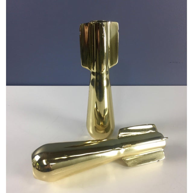 We have taken these WWll mortar shells and brassed them to produce these very cool desk accessories.