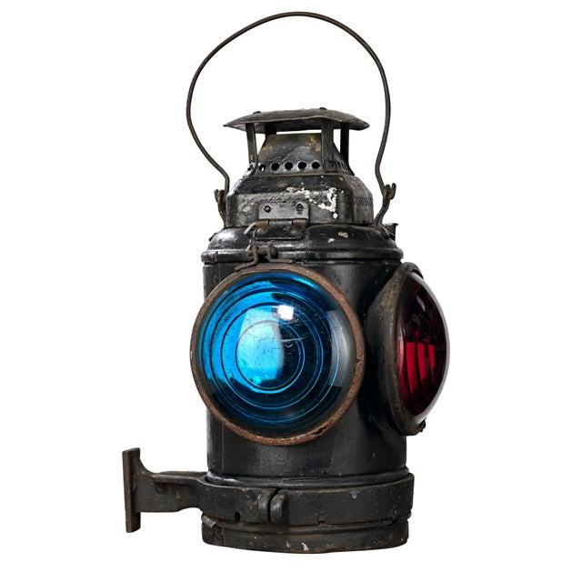 Three Lens Adlake Railroad Switching Lantern/Light For Sale - Image 12 of 12